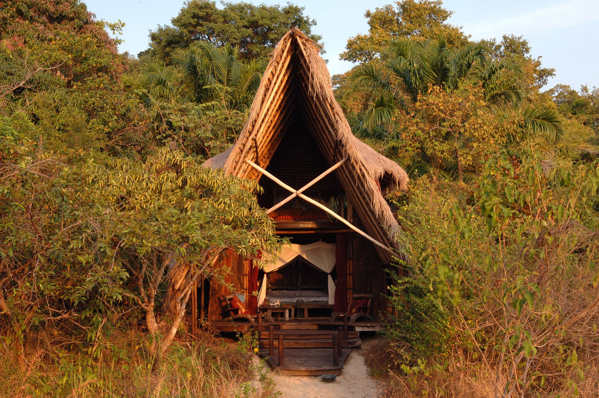 Greystoke Mahale is a remote tented camp in the chimp-inhabited forests of the Mahale Mountains in Tanzania. The camp stands at the base of the densely forested Mahale Mountains National Park on a remote beach and along the shores of Lake Tanganyika.