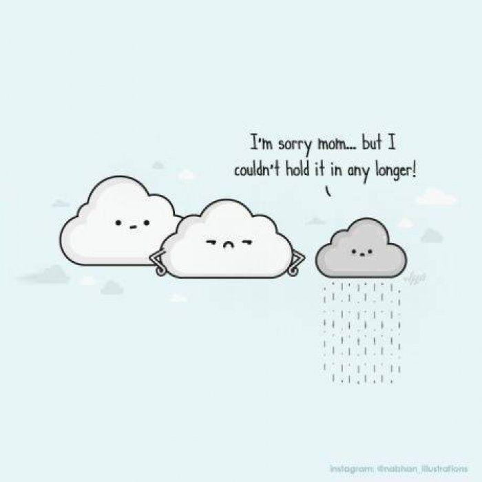Funny Cloud Cartoon Httpwwwjokideocom Random Pinterest - Amusing illustrations will put smile face