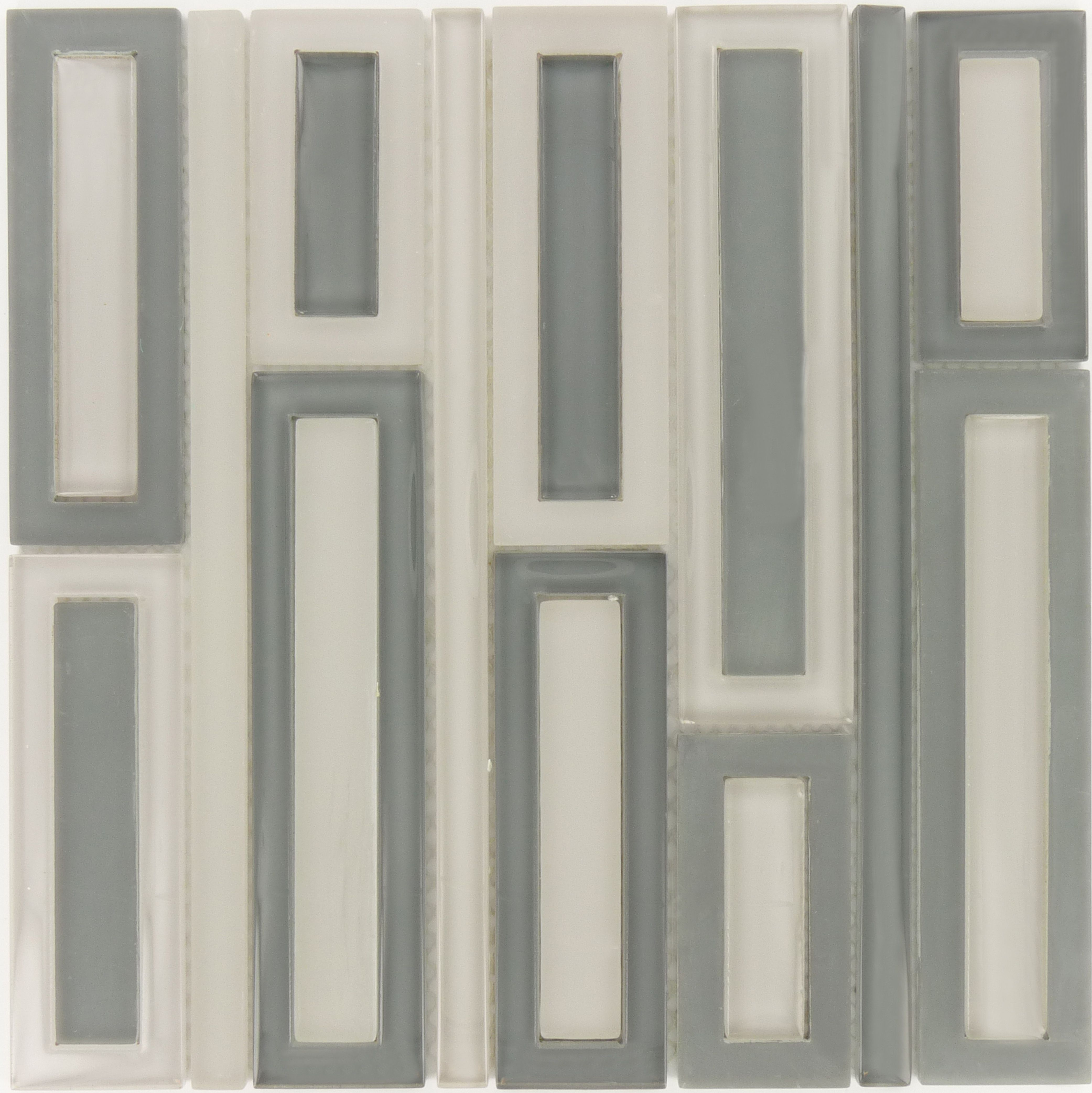 pacific tile company backsplash unique shapes shades of grey glossy frosted - Glass Tile Castle Ideas