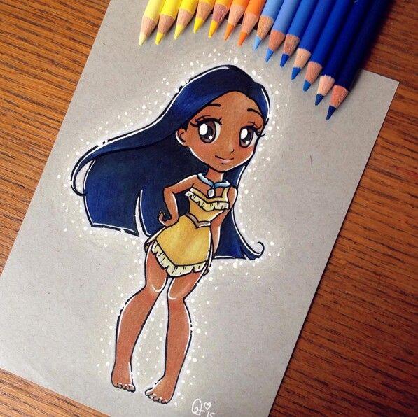 Pocahontas (Chibis By Ltia_Chan @Instagram) #Pocahontas