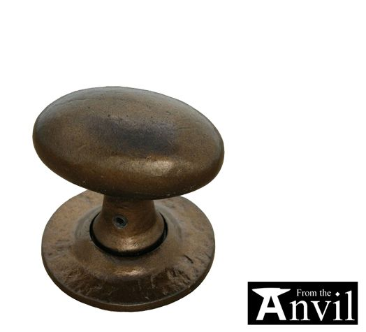 U0027OVAL MORTICE OR RIM KNOB SETu0027 BRONZE DOOR KNOBS   33911 (sold In