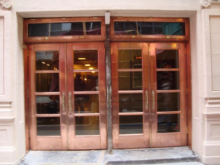 Copper Clad Window : Fabricated copper clad windows transoms and doors for new