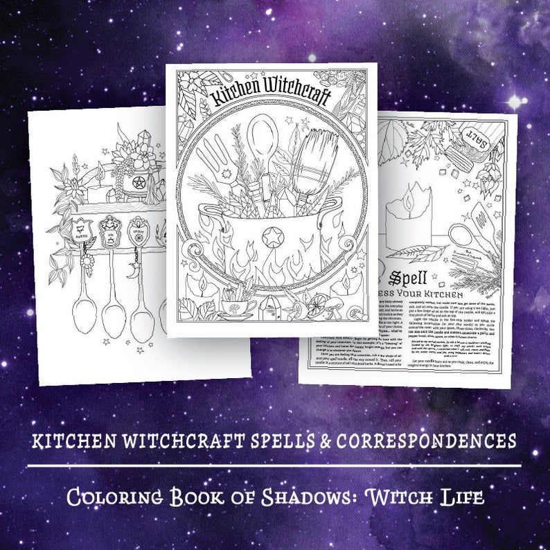 Coloring Book Of Shadows Witch Life Book Of Shadows Coloring Books Witch