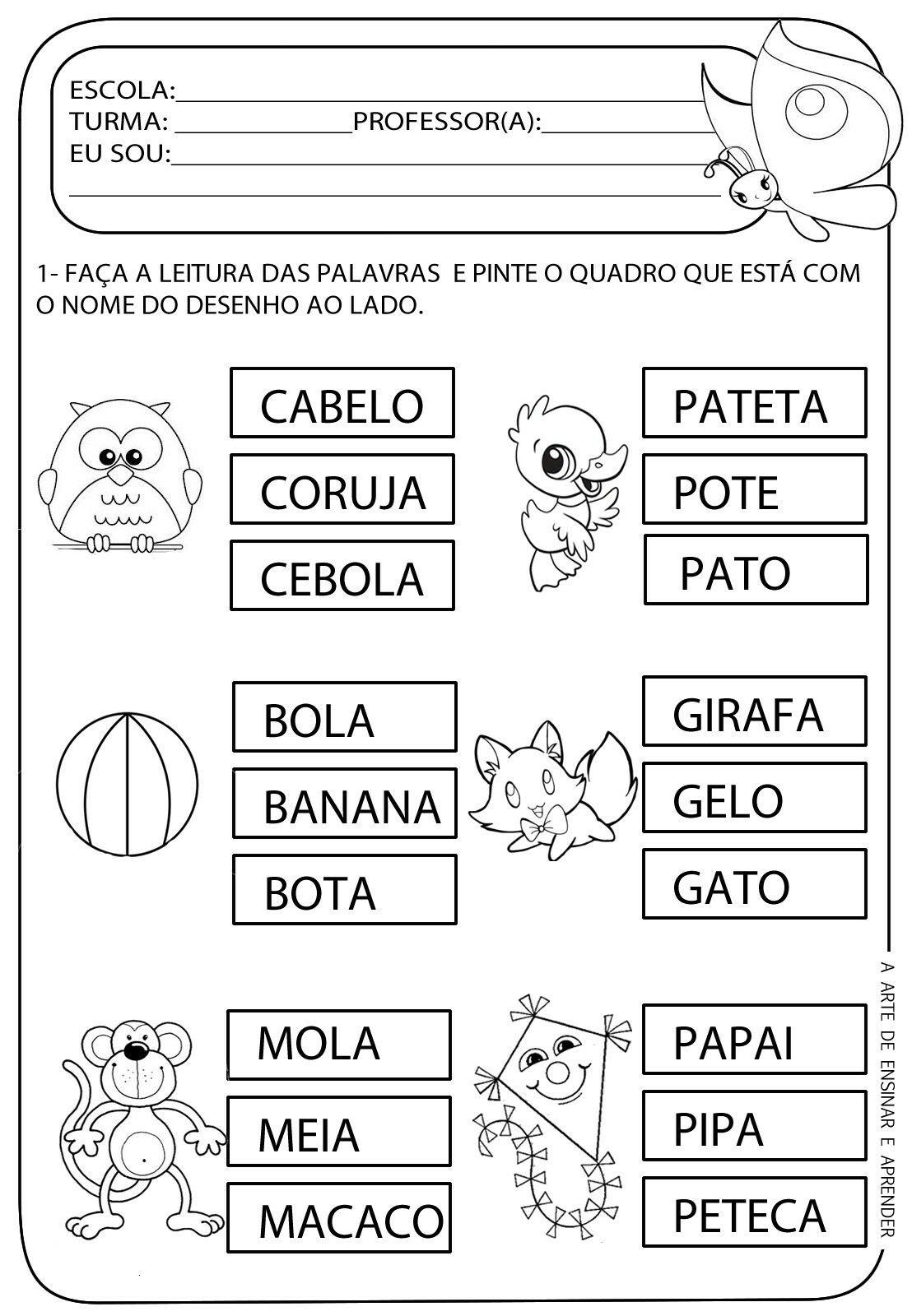 Pin By Marialucia Silvavasconcelos On Alfabetizacao