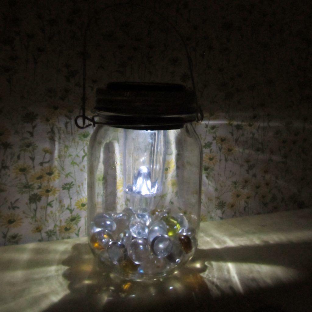 Hanging Solar Mason Jar Lights Dollar Tree Diy Craft Idea