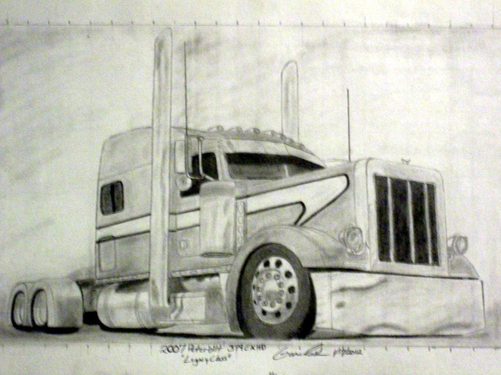 pencil drawings of semi trucks drawing forum and art community view topic truck drawings. Black Bedroom Furniture Sets. Home Design Ideas