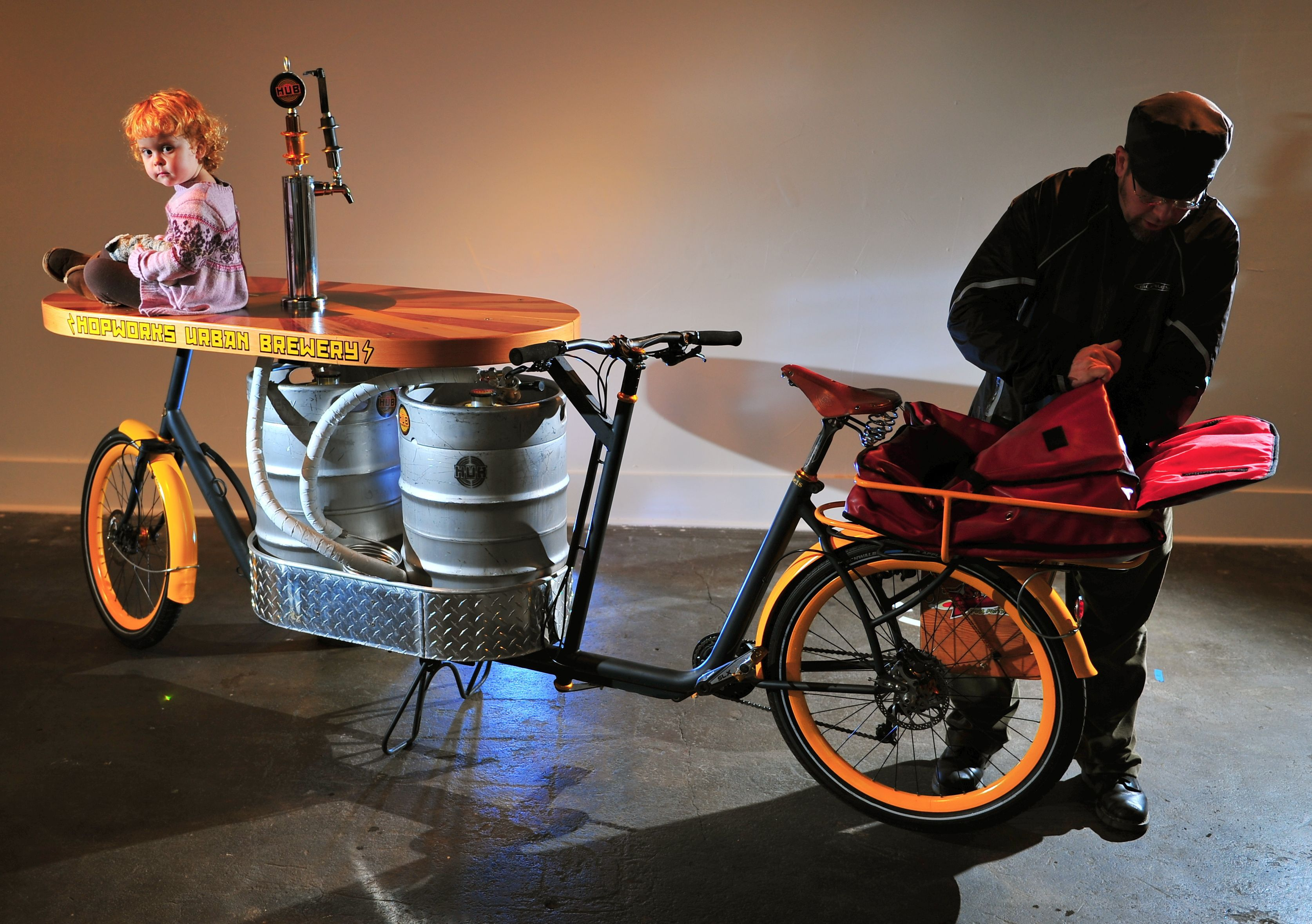 Bicycle Radio System The Beer Bike One Stereo System Two Kegs