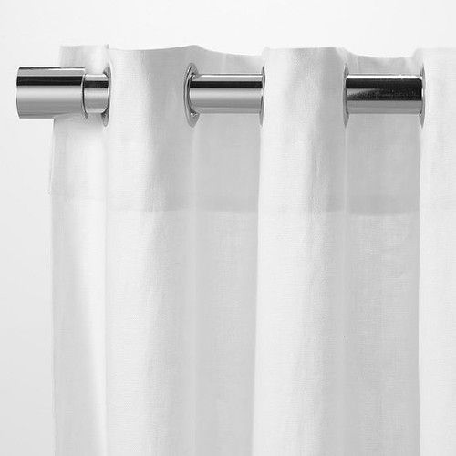 Linen Cotton Grommet Window Panel Contemporary Curtains