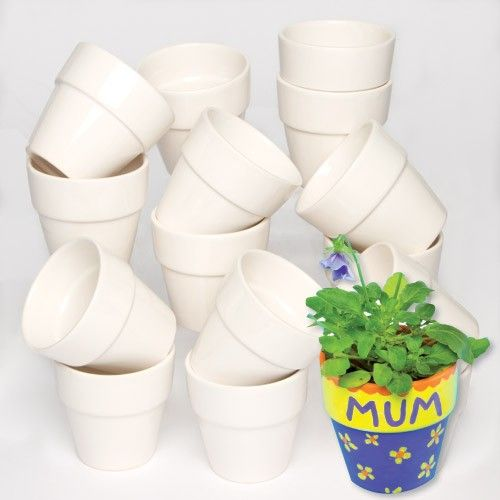 Bulk Pack Of 30 Mini Porcelain Flowerpots Mini Pots For Mini People Pot Size 7cm High Decorate With Our Porcel Small Flower Pots Flower Pots Flower Pot Crafts