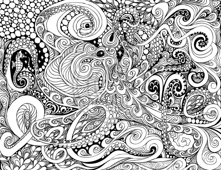 Printable octopus adult coloring page at Etsy PDF allows you to