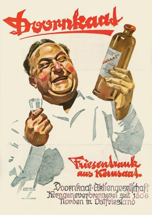Photo of Ludwig Hohlwein, Doornkaat-Plakat, 1948 – Entwurf
