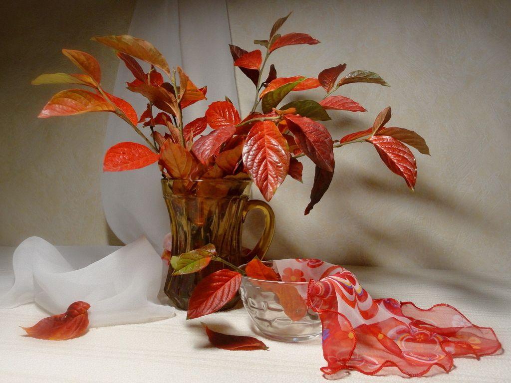 Служба доставки, букет цветов с листьями