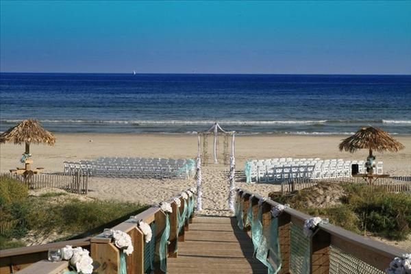 Beach Wedding At Stahlman Park Surfside Tx