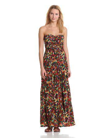 Patterson J. Kincaid Women's Rosaleda Floral Abella Belted Maxi Dress
