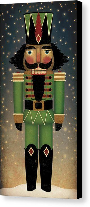 Nutcracker Canvas Print Canvas Art By Ryan Fowler Nutcracker Christmas Decorations Christmas Paintings Nutcrackers Diy
