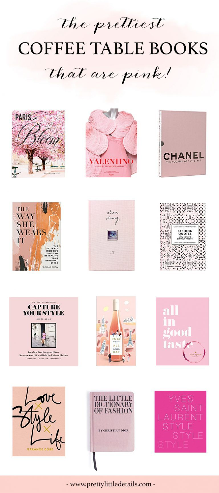 The Best Pink Coffee Table Books Pretty Little Details Coffee Table Books Decor Fashion Coffee Table Books Best Coffee Table Books [ 1730 x 768 Pixel ]