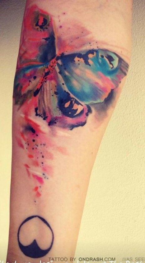 Water Color Tattoo Idea For New Tatt I Want This Blending But With My Secret Design Not W Butterflies With Images Tattoos