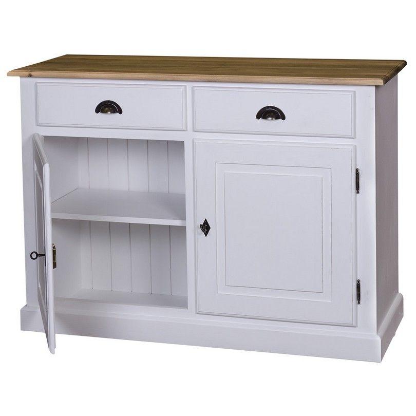 Credenza bassa 2 cassetti e 2 ante in legno massello finitura personalizzabile shabby chic - Mobili buffet ikea ...