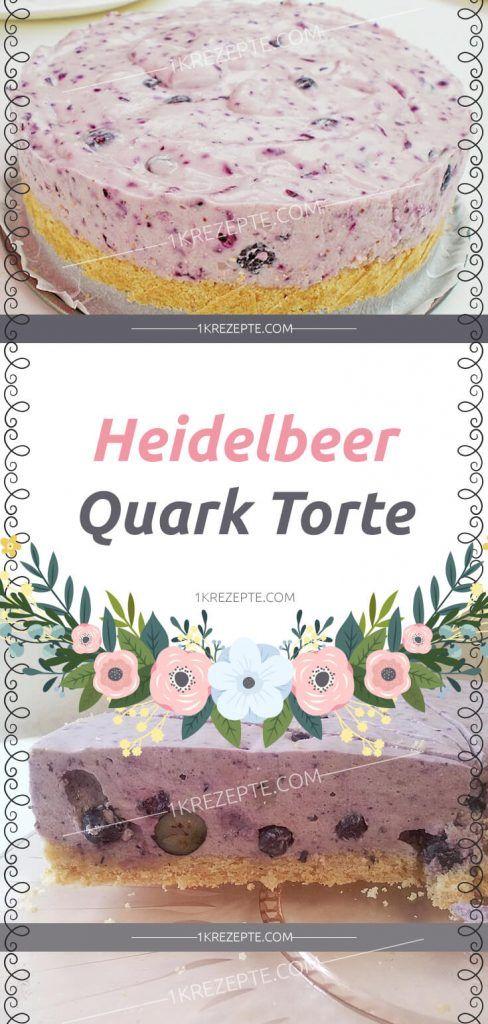 Heidelbeer – Quark Torte #schnelletortenrezepte