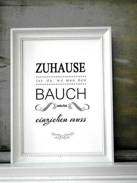 FINE ART Druck BAUCH EINZIEHEN Kunstdruck Print ...
