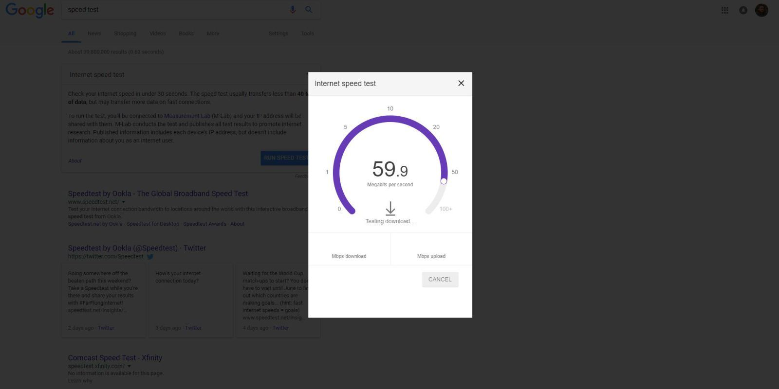 How To Check Your Internet Speed Right From Google S Homepage