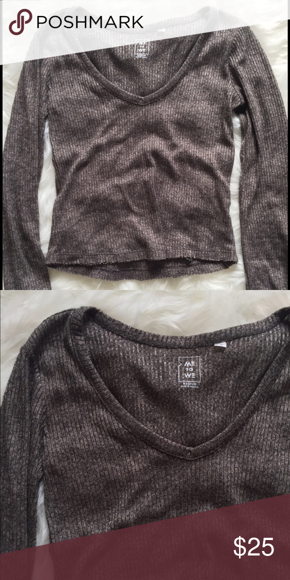 Me to we v Neck Sweater pacsun Ribbed sweater from pacsun PacSun Sweaters V-Necks