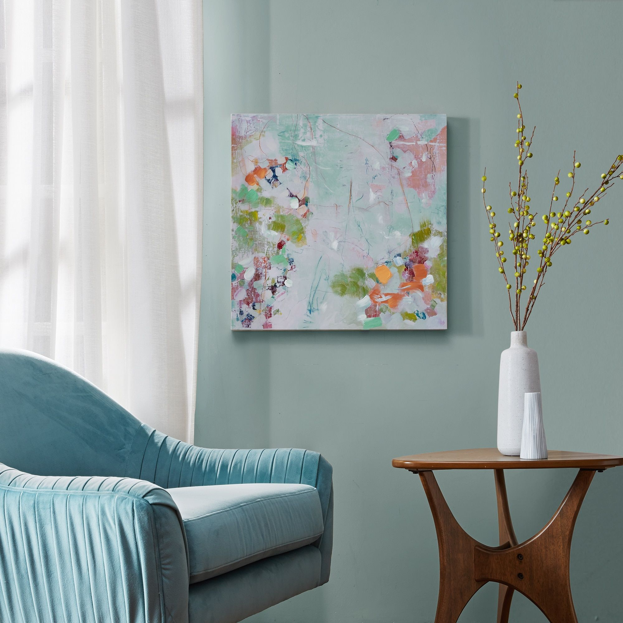 Hallway furniture habitat  Urban Habitat Abstract Garden Multi Gel Coat Canvas H x