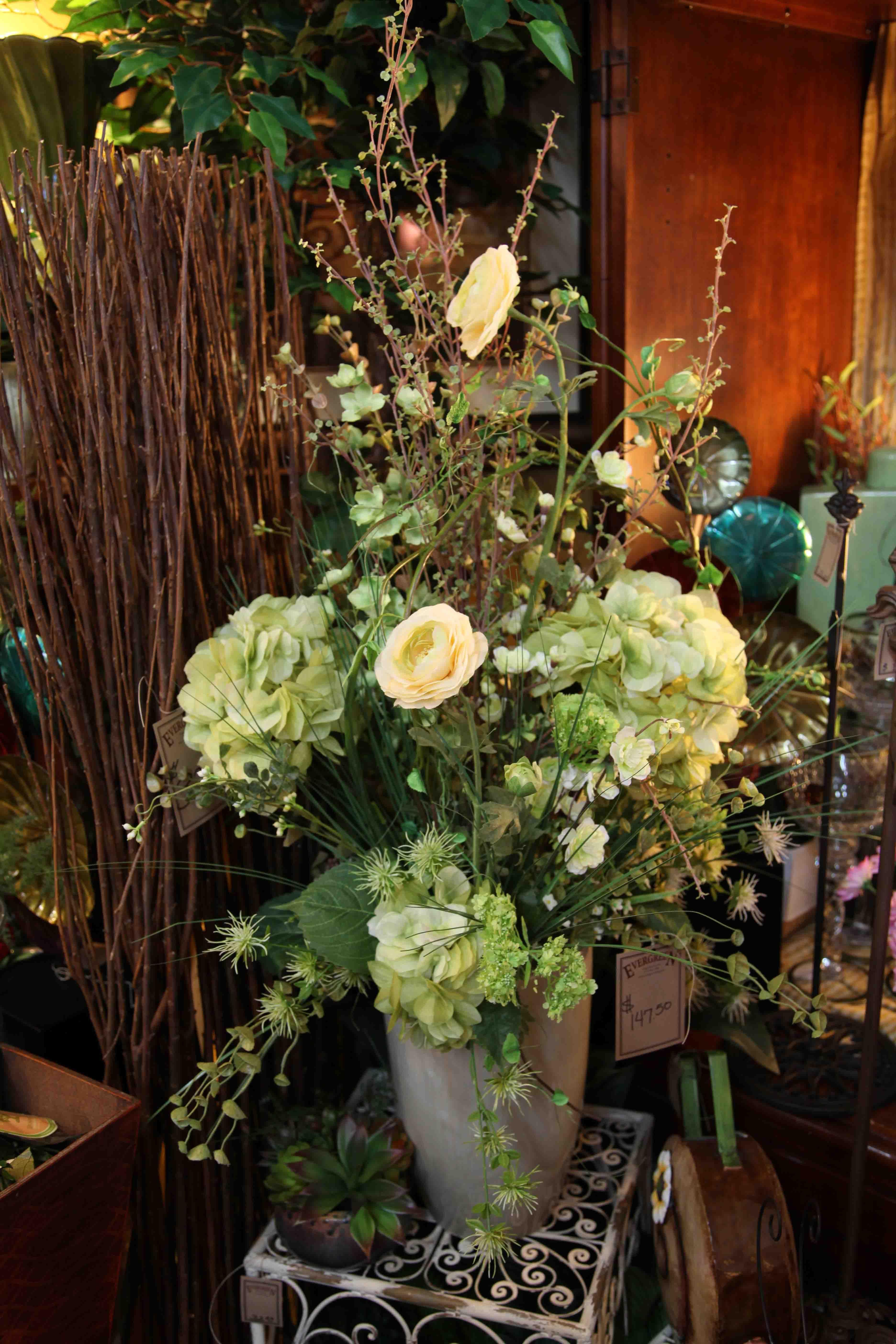 beautiful silk floral arrangement  www.EvergreenMfg.net