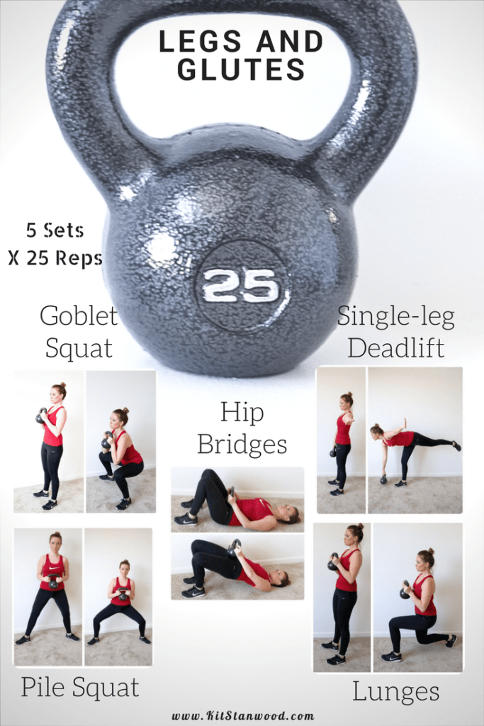 Legs and Glutes Kettlebell Workout Routine for Stronger - Kit Stanwood