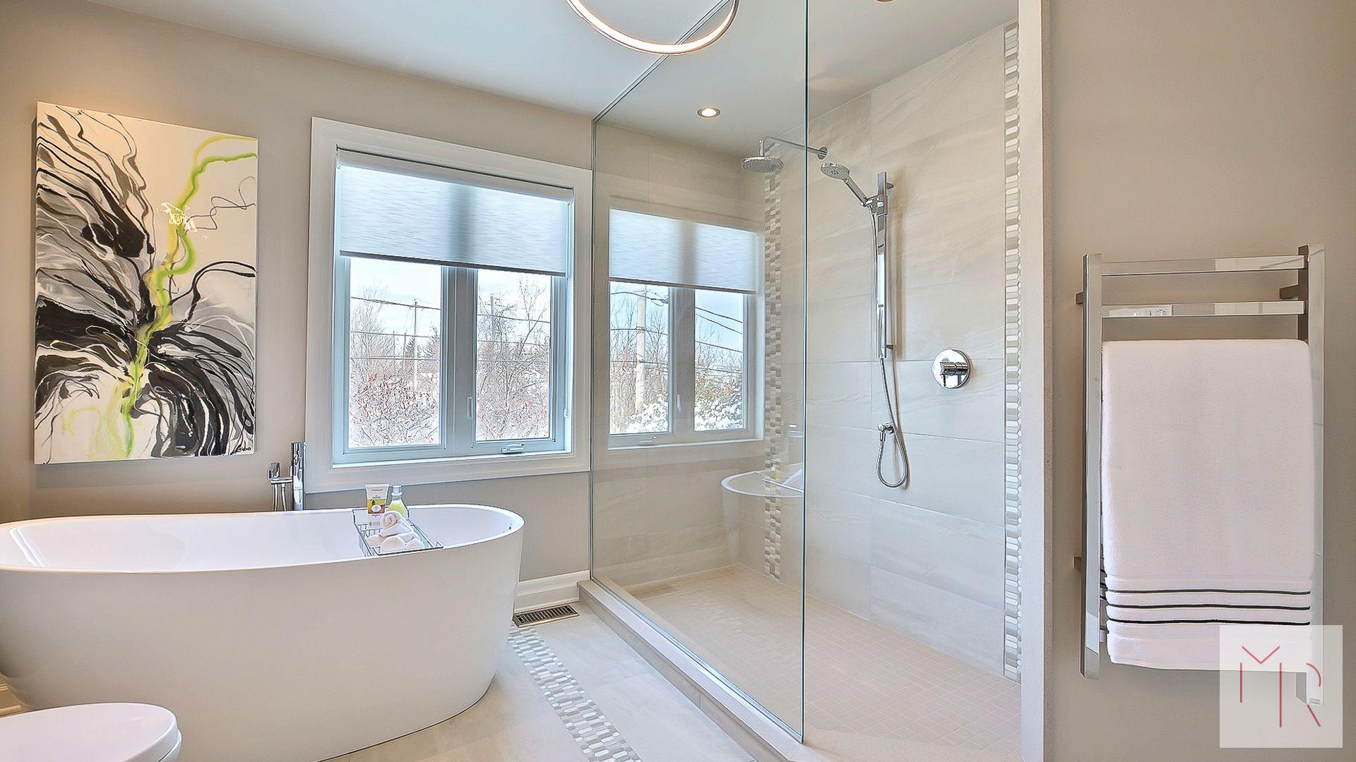 Bathroom interior hd la pure  home  pinterest  open showers freestanding bath and