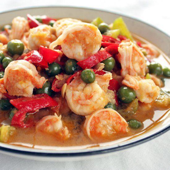 Sambal tauco udang Medan - spicy shrimp stir fry.