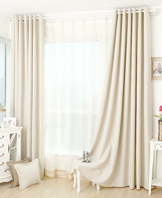 http://www.2uidea.com/category/Blackout-Curtains/ Off white blackout curtain / insulation curtain custom curtains (all size) $45 Etsy