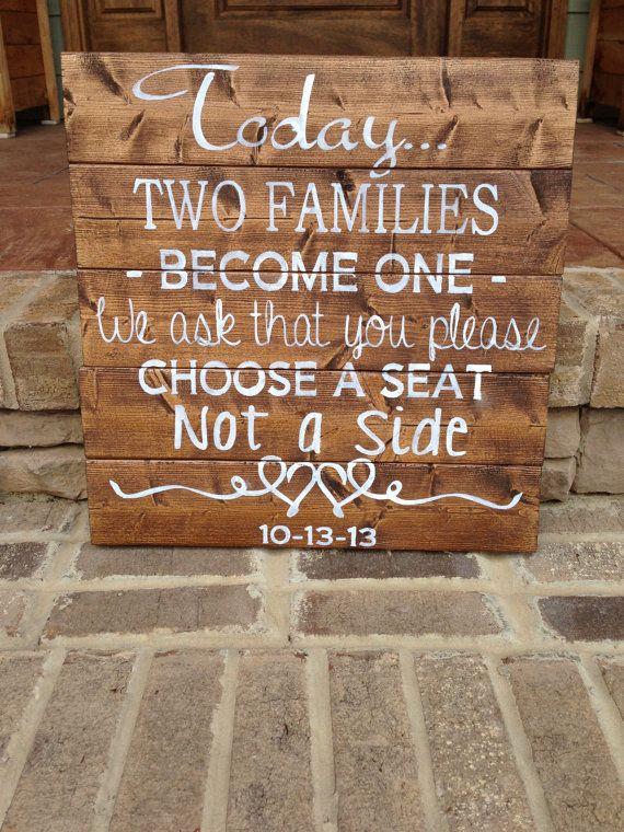 Custom Wood Sign Wedding Sign \