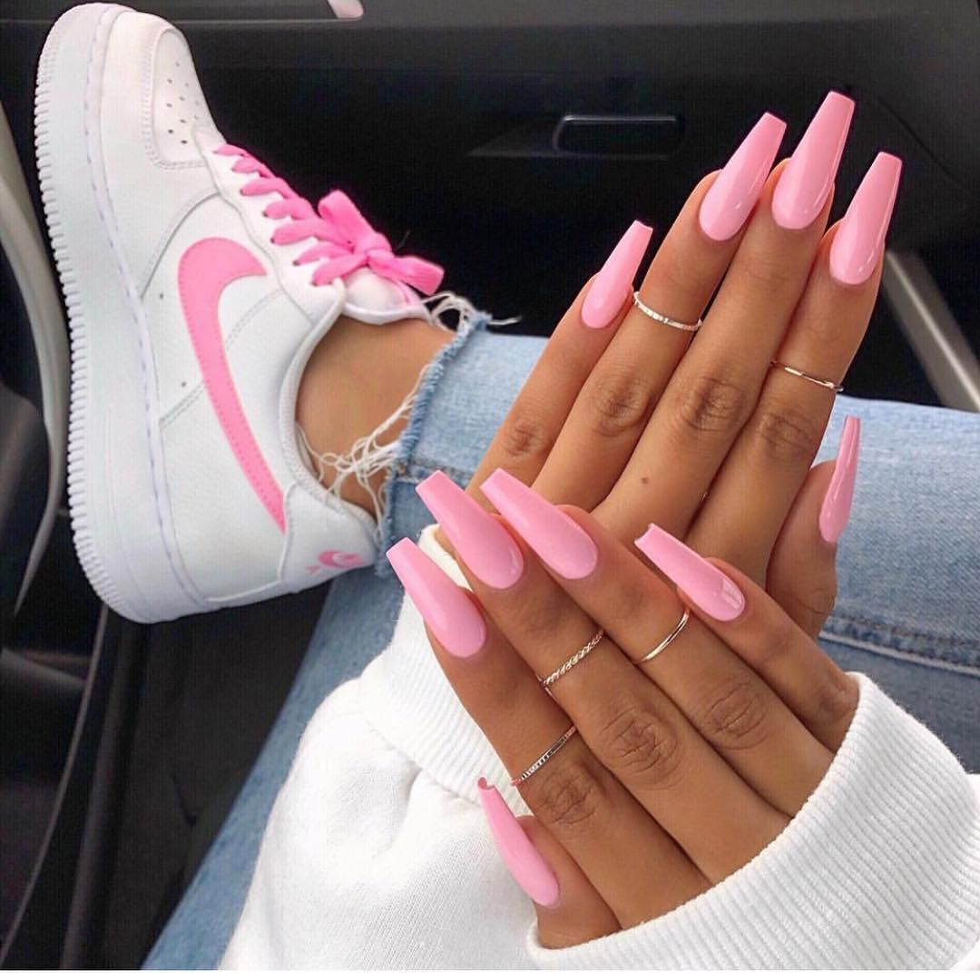 Nail Shoe Inspo Pink Acrylic Nails Cute Acrylic Nails Pink Nails