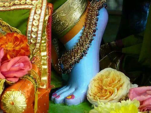 Lord Krishna's feet..
