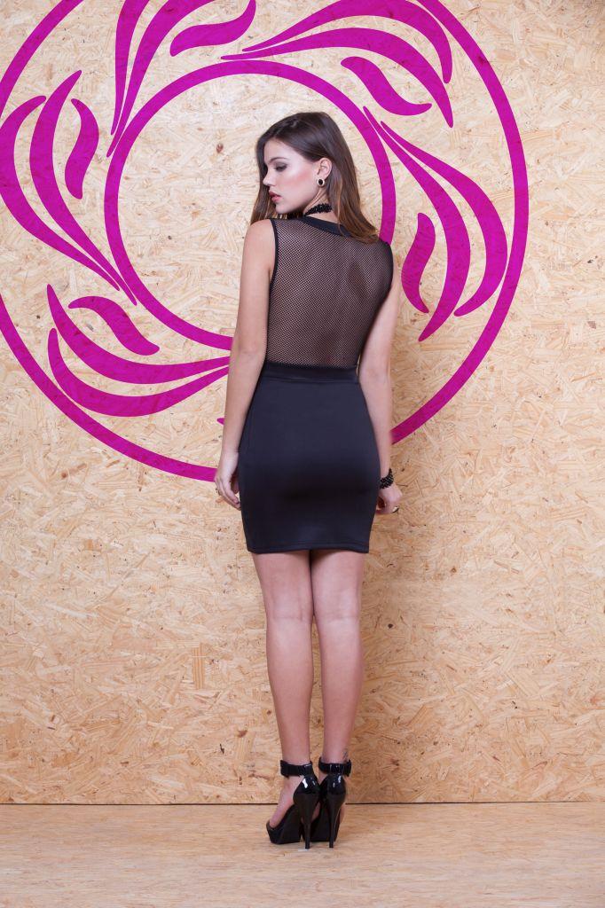 Vestido Renda e Tela OXD-243 #mundoErreErre #lookbook #verao2015 www.erreerre.com.br