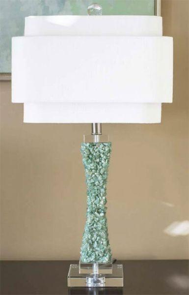 Cienege Green Quartz Table Lamp Lamp Table Lamp Colorful Table Lamp