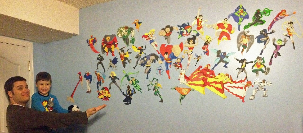 Wall Decor With Construction Paper : Construction paper bedroom wall goodcomics art