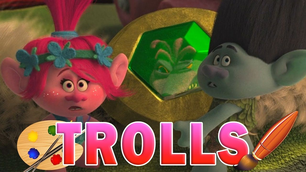 Coloring Pages Trolls : Trolls movie coloring pages for kids with poppy and branch look