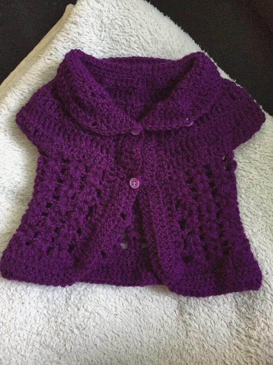 Free crochet baby cardigan pattern | Häkeln, Baby kind und Strickkleid