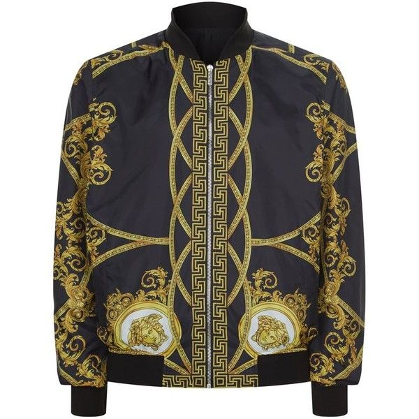 68a33a58f3 Versace Reversible Printed Bomber Jacket (13,535 HKD) ❤ liked on ...