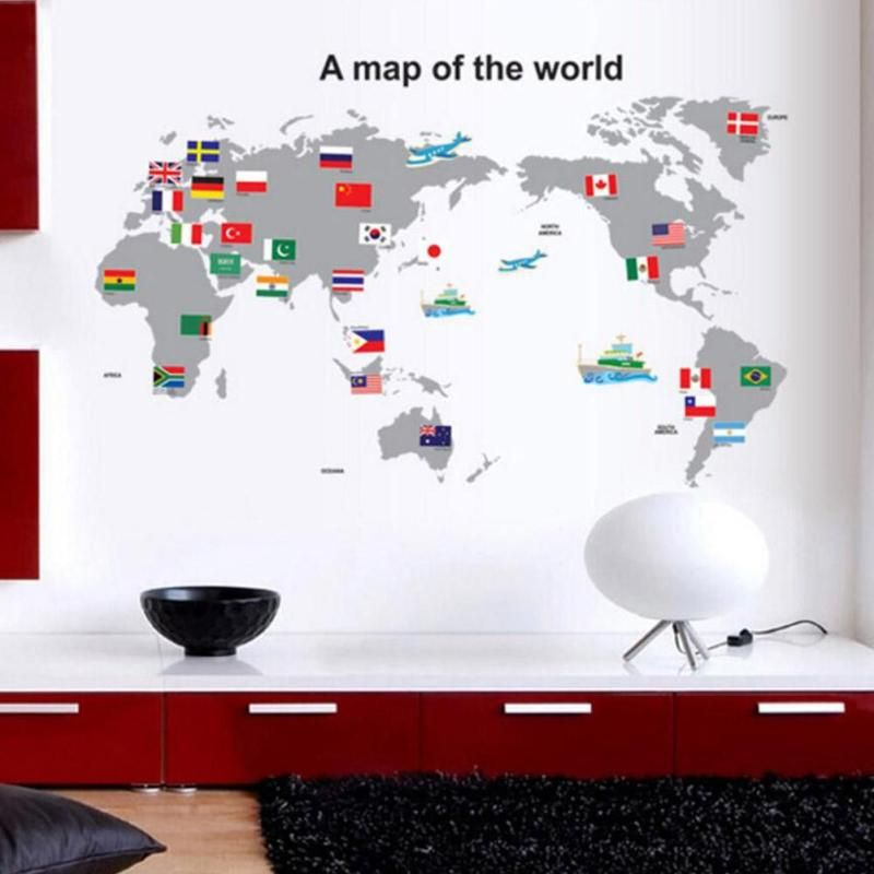 Large pvc world map wall sticker diy office living room home large pvc world map wall sticker diy office living room home decorations house sticker mural wall gumiabroncs Choice Image