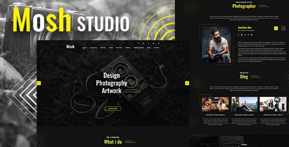 Mosh - Photographer One Page PSD Template  ⠀  Mosh – Photographer One Page PSD Template Posh is Responsive Template fresh and clean Design. This is a designed website template designed in Photoshop with a simple & beautiful look. PSD files...  ⠀  #bold #camera #film #responsivedesign #thekrishna #themeforest #agency #gallery #creative #personal #modern #responsive #portfolio #slideshow #studio #photography #clean #elegant