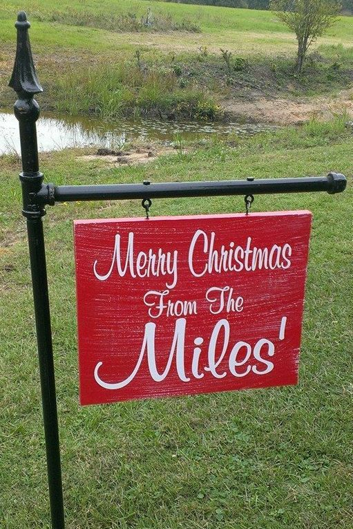 Yard Signs Personalized Yard Signs Christmas Yard Sign By Signchik