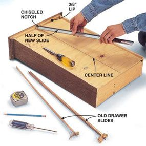 Fixing Drawers How To Make Creaky Drawers Glide Drawer Repair