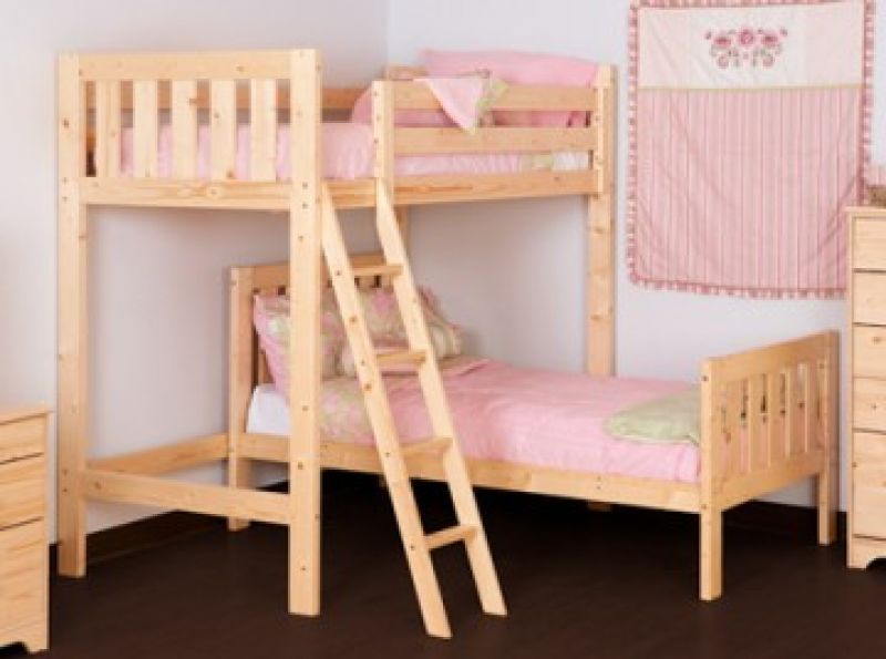 Best L Shapped Bunk Bed Goodwood 3Ft Natural Pine L Shaped 640 x 480