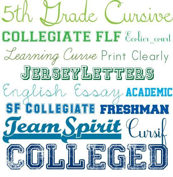 sports fonts