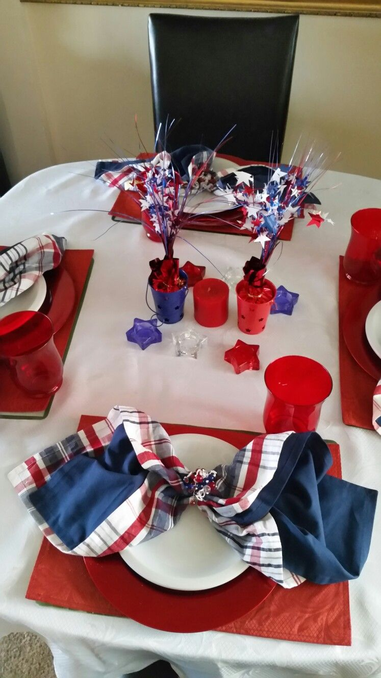 4th of July decorations, Pier One and Dollar Tree