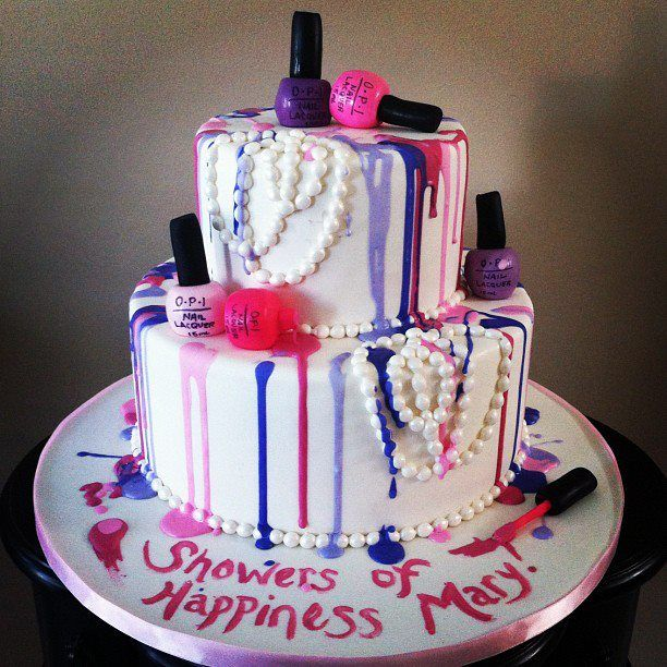 Birthday Fingernail Cake: Juicy Desserts Nail Polish Cake