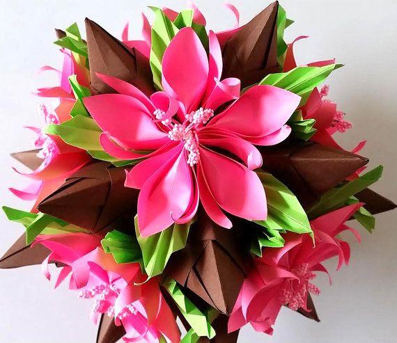 3d origami kusudama tornillo with flowers table decoration 3d 3d origami kusudama tornillo with flowers di 3dorigamiartstudio mightylinksfo